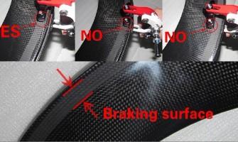Avoid Rim brake surface melted