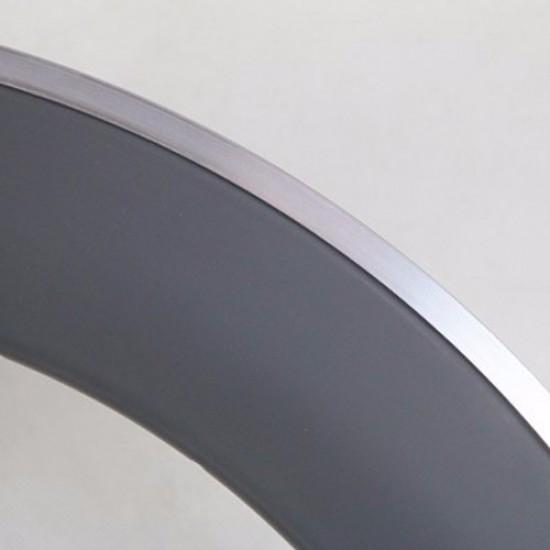 700C 80x25mm Clincher Alloy Brake Surface Carbon Road Bike Rim