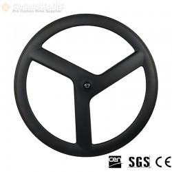 700C 21mm Wide Straight 3 Spokes Clincher / Tubular Wheel