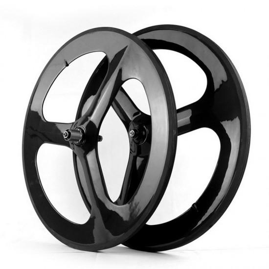 700C 21mm Wide 3 Spokes Clincher / Tubular Wheel