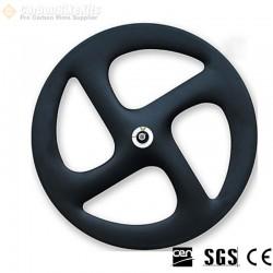 700C 21mm Wide Straight 4 Spokes Clincher / Tubular Wheel