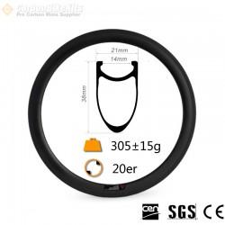 20Inch 451  38x21mm Clincher Carbon Rim