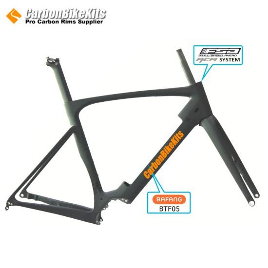 CFM1008E Carbon Frame for Electric Gravel Bike Compatible Bafang M800 Motor and BTF05 Battery